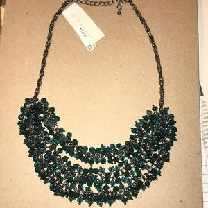 NWT Aqua/Dark Emerald Layered Necklace